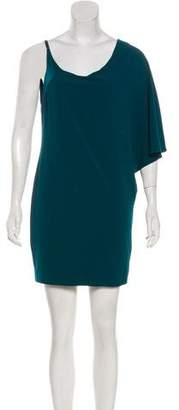 Halston Asymmetrical Mini Dress