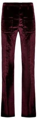 Vetements Flared velvet trousers