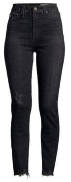 AG Jeans Sophia High-Rise Washed Skinny Jeans