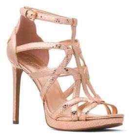 MICHAEL Michael Kors Sandra Leather Stiletto Sandals