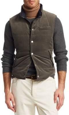 Brunello Cucinelli Reversible Velvet Vest