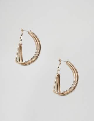 Monki multi ring hoop earrings in gold