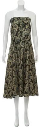 Just Cavalli Strapless Printed Dress Black Strapless Printed Dress
