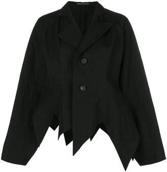 Yohji Yamamoto pointed hem oversized jacket