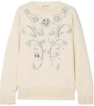 Paco Rabanne Embellished Wool-blend Sweater - Ivory