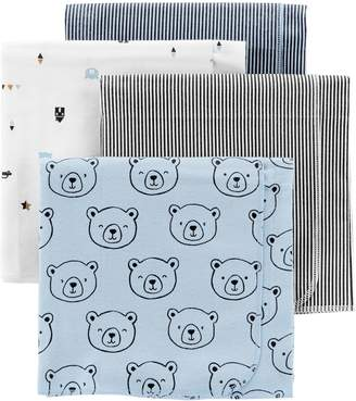 Carter's Baby Boy 4-Pack Print Flannel Blankets