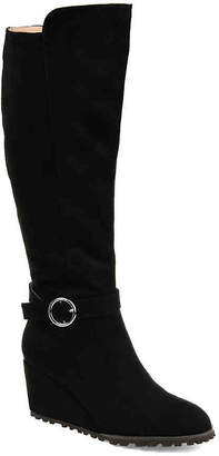 Journee Collection Veronica Wide Calf Wedge Boot - Women's