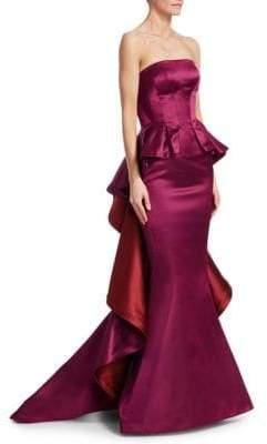 Zac Posen Strapless Two-Tone Mermaid Gown