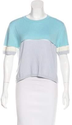 Fendi Mesh-Paneled Cashmere Top