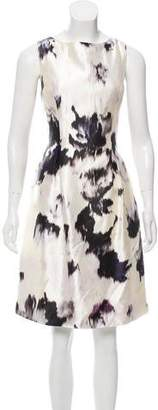 Lela Rose Printed Silk Dress