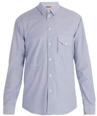 Barena Venezia - Point Collar Striped Cotton Shirt - Mens - Blue Multi