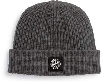 Stone Island Ribbed Wool Beanie Hat