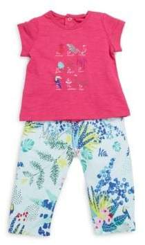 Catimini Baby Girl's Two-Piece Top & Pants Set