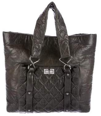 Chanel 8 Knots Leather Tote silver 8 Knots Leather Tote