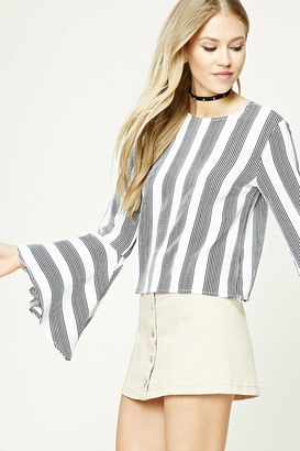 FOREVER 21+ Striped Bell-Sleeve Top $17.90 thestylecure.com