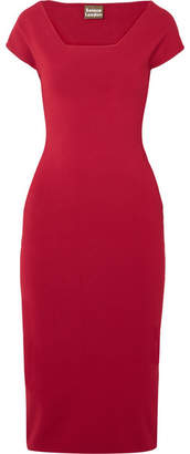 SOLACE London The Ceirra Stretch-knit Midi Dress - Red