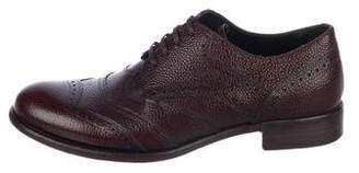 Dolce & Gabbana Pebble Leather Derby Shoes