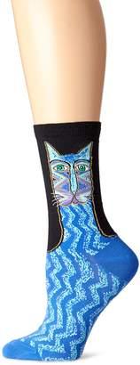 K. Bell Socks Women's Single Pack Cat Design Crew Socks