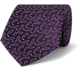 Charvet 7.5cm Paisley Silk-Jacquard Tie
