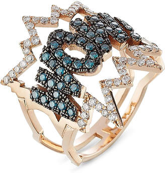 Diane Kordas WOW! 18kt Rose Gold Ring with Diamonds