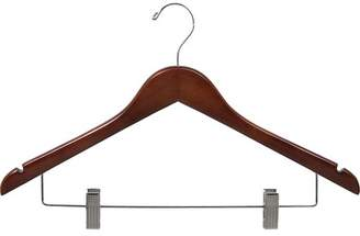 Rebrilliant Wooden Combo Hanger with Adjustable Cushion Clips