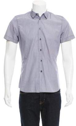 Miu Miu Striped Short Sleeve Shirt