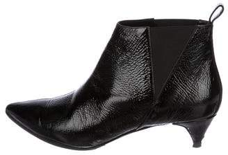 Pierre Hardy Twist Patent Leather Ankle Boots