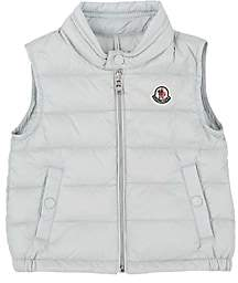 "Moncler Infants' ""New Amaury"" Down-Quilted Vest-Gray"