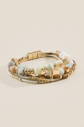 francesca's Hannah Semi-Precious Beaded Bracelet - Gold
