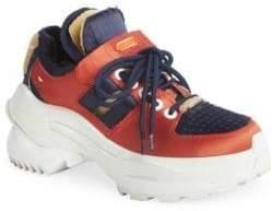 Maison Margiela Women's Chunky Satin Bicolor Platform Wedge Sneakers - Size 36.5 (6.5)