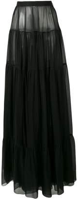 Saint Laurent maxi sheer skirt