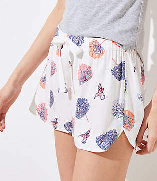 LOFT Hummingbird Pajama Shorts