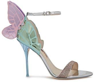 Sophia Webster Chiara Metallic Winged Leather Sandals