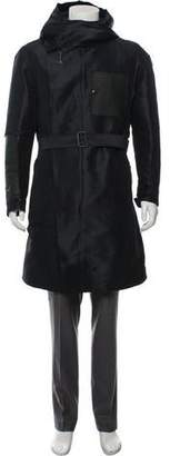 Lanvin Leather-Trimmed Puffer Coat
