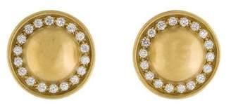 Kieselstein-Cord 18K Diamond Sombrero Clip-On Earrings