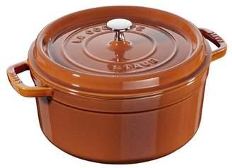 Staub 4 Qt. Cast Iron Round Dutch Oven with Lid