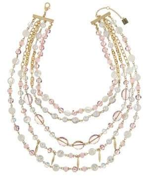 Laundry by Shelli Segal Goldtone Beaded Layer Necklace