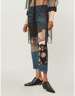 Junya Watanabe Contrasting patchwork straight high-rise jeans