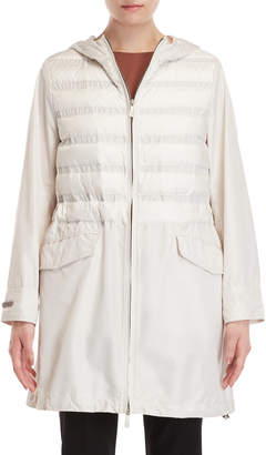 Peserico Quilted Hooded Longline Jacket