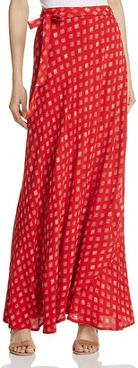 Band of Gypsies Printed Maxi Wrap Skirt $74 thestylecure.com