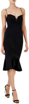 Nicholas D1517BK Flip Hem Bra Dress