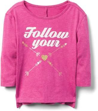 Crazy 8 Crazy8 Toddler Follow Your Heart Tee
