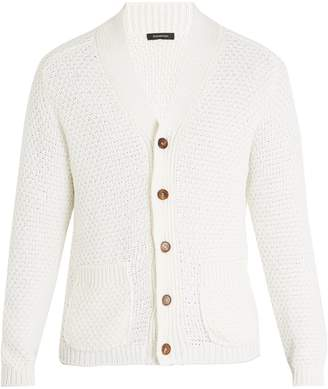 Ermenegildo Zegna Cotton and silk-blend knitted cardigan