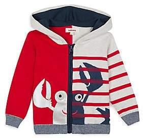 Catimini Baby's& Little Boy's Printed Hooded Lobster Zip Sweater