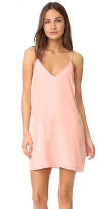 Amanda Uprichard Kendall Velvet Slip Dress $194 thestylecure.com