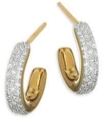Monica Vinader Fiji Diamond Mini Hoop Earrings