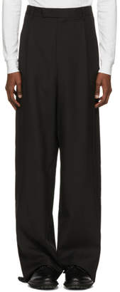 Yang Li Black High Waisted Trousers