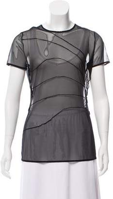 Wolford Short Sleeve Mesh Top