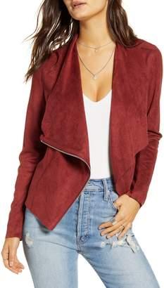 Blank NYC Blanknyc Faux Suede Drape Front Jacket