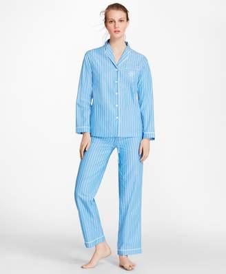 Brooks Brothers Striped Cotton Poplin Pajama Set